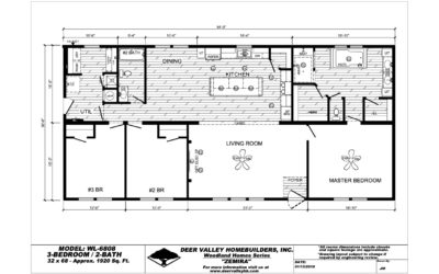 """2021 Deer Valley """"Zemira"""" — 32'x68′ — 3 bedroom, 2 bath"""